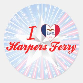 I Love Harpers Ferry, Iowa Stickers