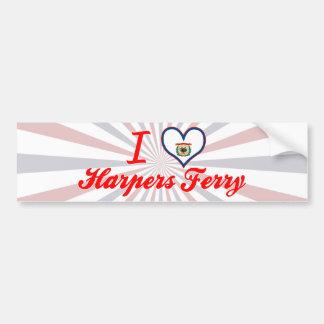 I Love Harpers+Ferry, West Virginia Bumper Stickers