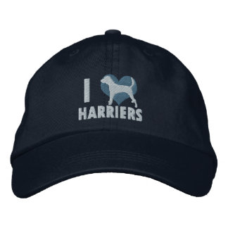 I Love Harriers Embroidered Hat (Blue)