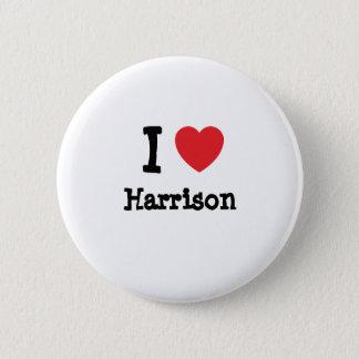 I love Harrison heart custom personalized 6 Cm Round Badge