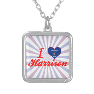 I Love Harrison, Wisconsin Personalized Necklace