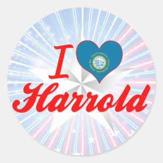 I Love Harrold, South Dakota Round Sticker