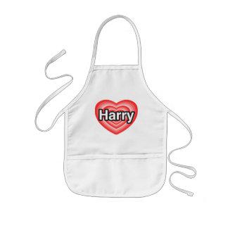 I love Harry. I love you Harry. Heart Apron