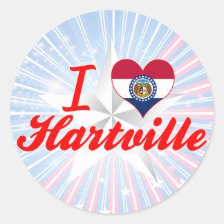 I Love Hartville, Missouri Stickers