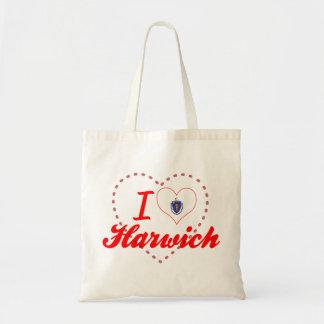 I Love Harwich, Massachusetts Tote Bag