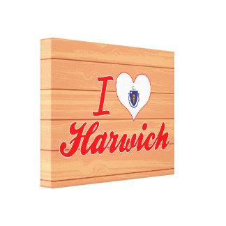 I Love Harwich, Massachusetts Stretched Canvas Print