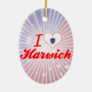 I Love Harwich, Massachusetts Christmas Tree Ornament