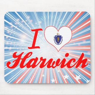 I Love Harwich Massachusetts Mouse Pads
