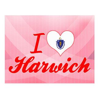 I Love Harwich Massachusetts Postcard