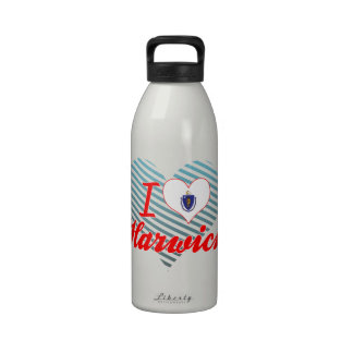I Love Harwich, Massachusetts Water Bottle