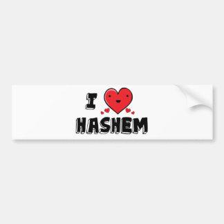 I Love Hashem Car Bumper Sticker