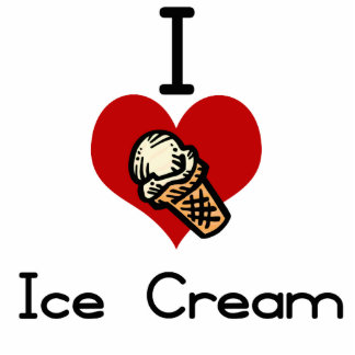 I love-hate ice cream cone photo sculpture