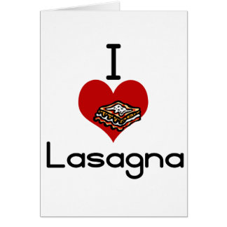 I love-hate lasagna cards