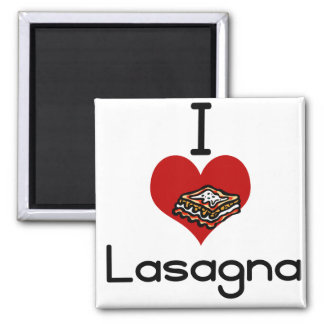 I love-hate lasagna magnet