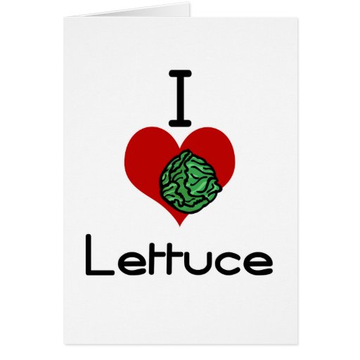 I love-hate lettuce greeting card