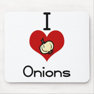 I love-hate onions mouse pad