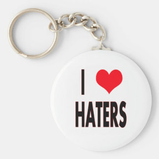 I Love Haters Basic Round Button Key Ring