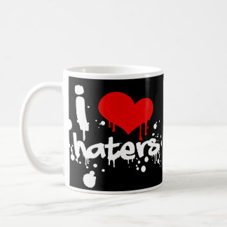I Love Haters Basic White Mug