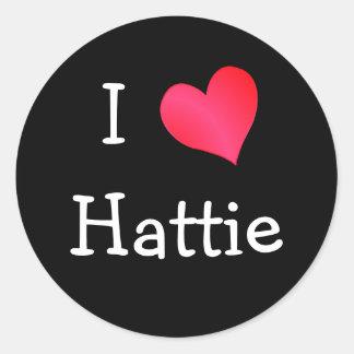 I Love Hattie Stickers
