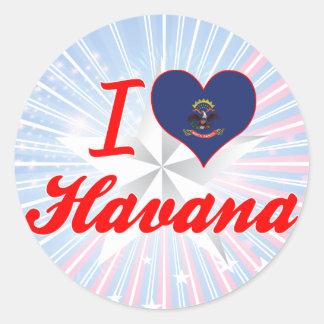 I Love Havana, North Dakota Round Stickers
