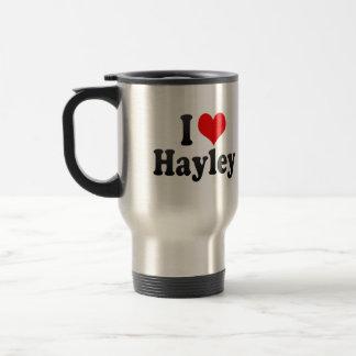 I love Hayley Stainless Steel Travel Mug