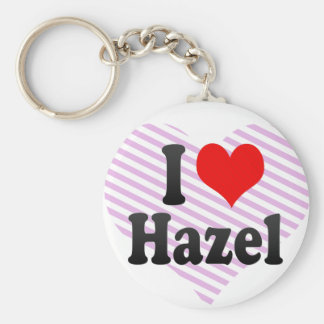 I love Hazel Key Ring