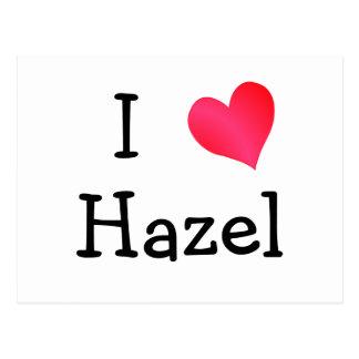 I Love Hazel Postcard