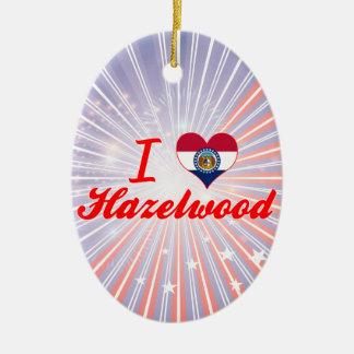 I Love Hazelwood, Missouri Christmas Tree Ornaments
