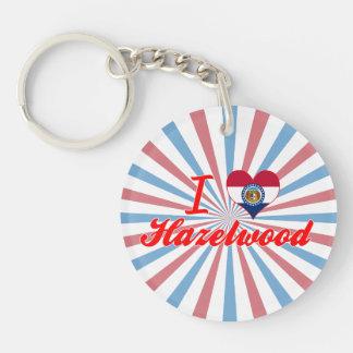 I Love Hazelwood, Missouri Single-Sided Round Acrylic Key Ring