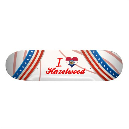 I Love Hazelwood, Missouri Skate Board Decks