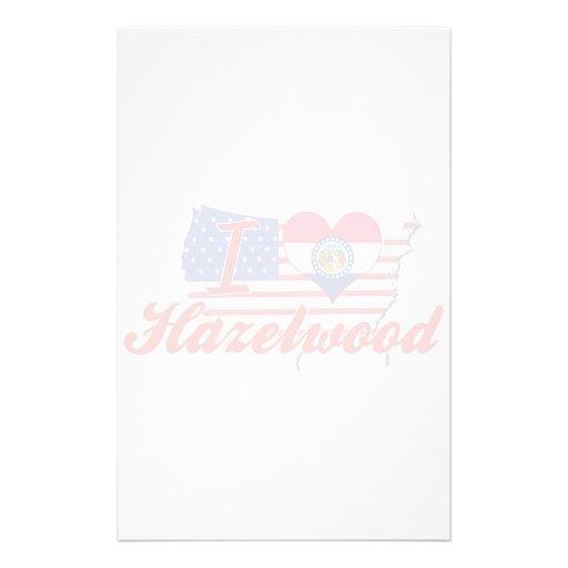 I Love Hazelwood, Missouri Stationery Paper