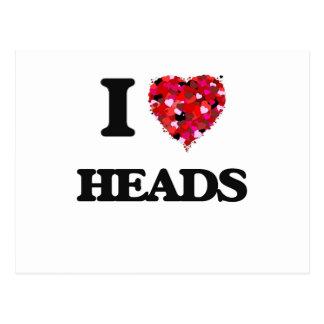 I Love Heads Postcard