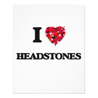 I Love Headstones 11.5 Cm X 14 Cm Flyer