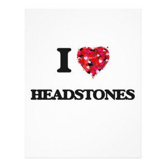 I Love Headstones 21.5 Cm X 28 Cm Flyer