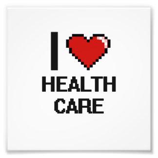 I Love Health Care Digital Design Photo Print