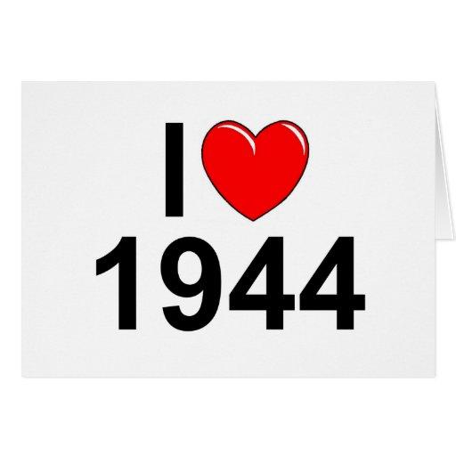 I Love (Heart) 1944 Greeting Card