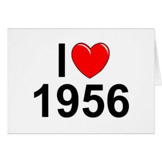 I Love (Heart) 1956 Greeting Card