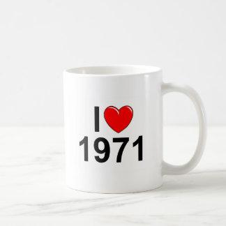 I Love (Heart) 1971 Mugs