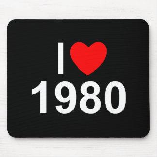 I Love (Heart) 1980 Mousepads