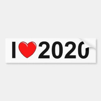 I Love (Heart) 2020 Car Bumper Sticker