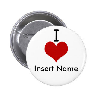 I Love (heart) 6 Cm Round Badge