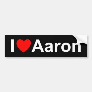 I Love (Heart) Aaron Bumper Sticker