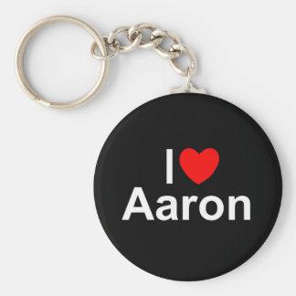 I Love (Heart) Aaron Key Ring