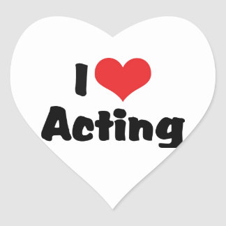 I Love Heart Acting - Performing Arts Theater Heart Sticker