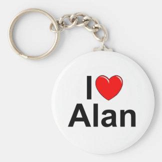 I Love (Heart) Alan Key Ring