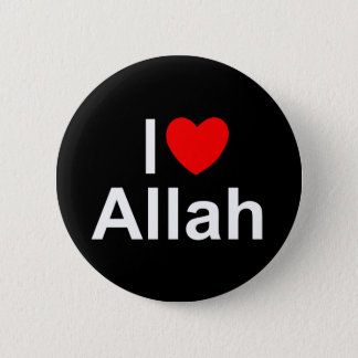 I Love (Heart) Allah 6 Cm Round Badge