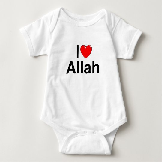 I Love (Heart) Allah Baby Bodysuit