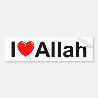 I Love (Heart) Allah Bumper Sticker