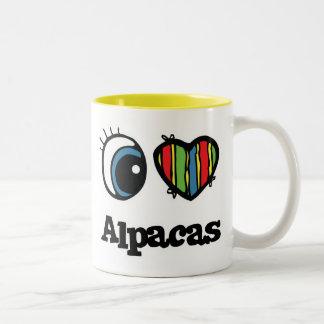 I Love (Heart) Alpacas Two-Tone Coffee Mug