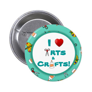 I Love (Heart) Arts and Crafts Button